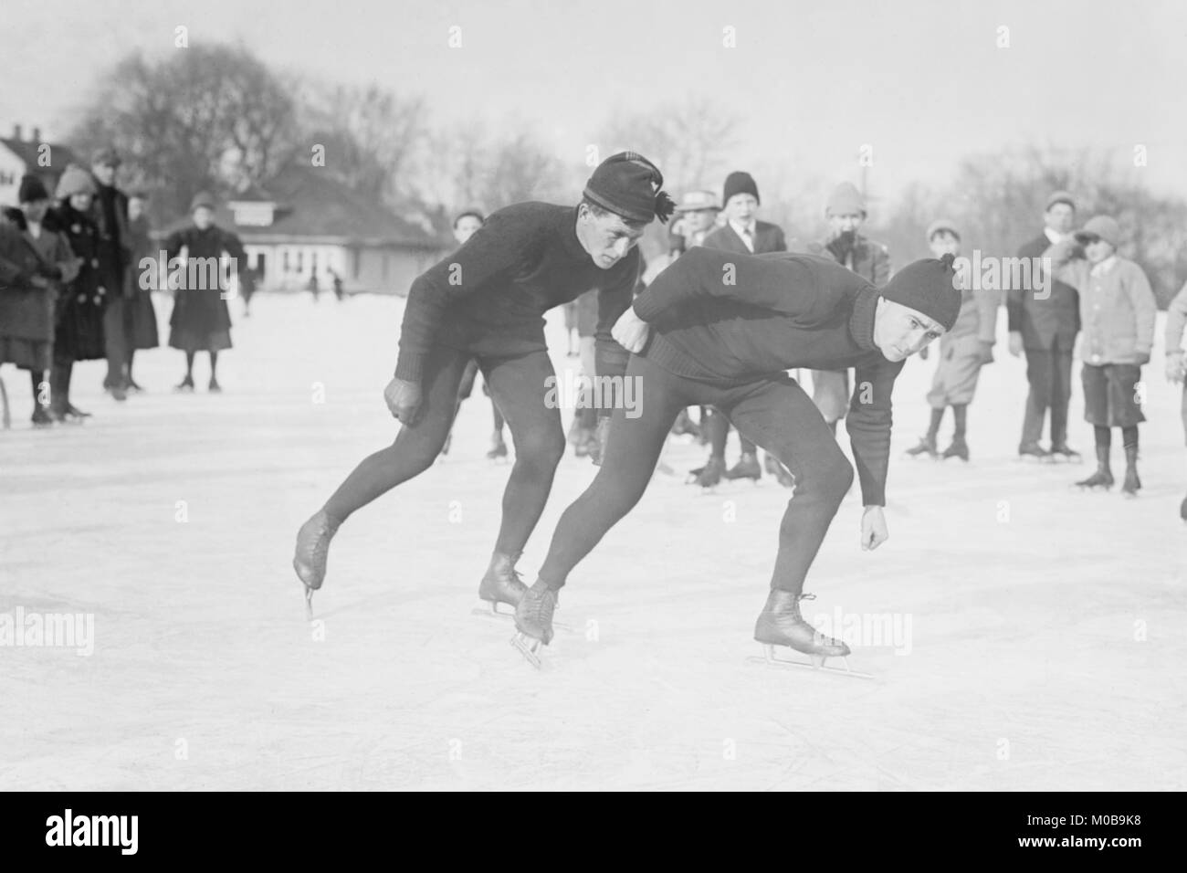 Ice Skating in Central Park - Stock Image