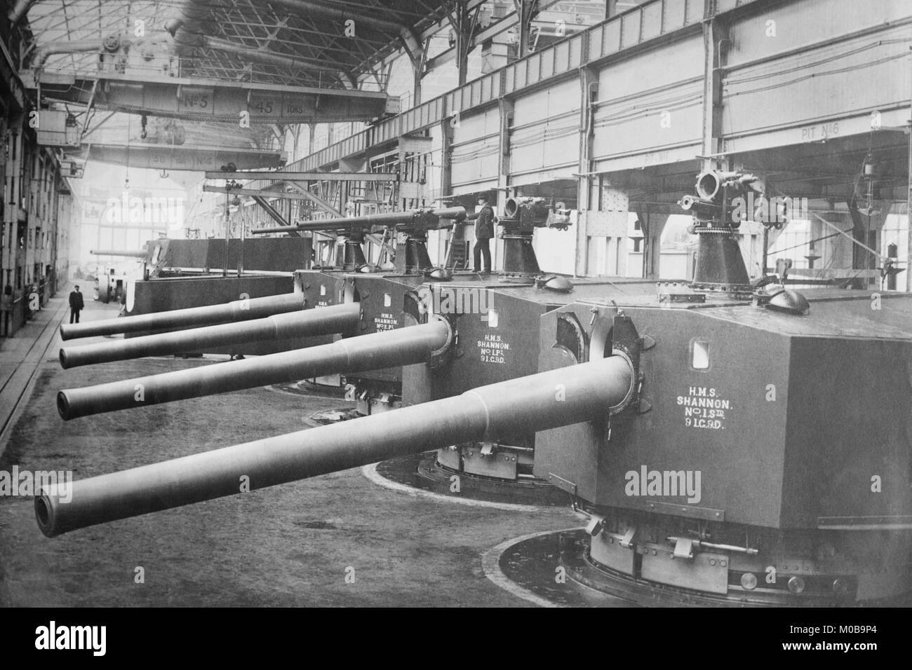 Vikers Works Naval Construction Manufactures Battleship guns and turrets - Stock Image