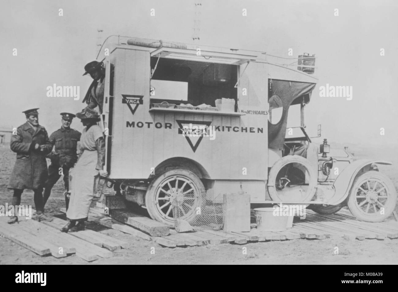 YMCA Army Motor Kitchen - Stock Image