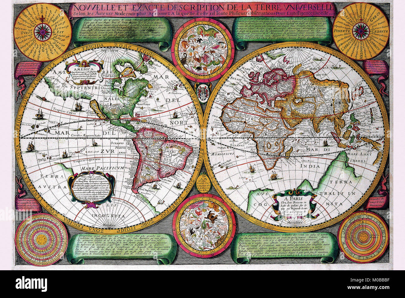 Stereographic world map of the eastern western hemispheres stock stereographic world map of the eastern western hemispheres gumiabroncs Images