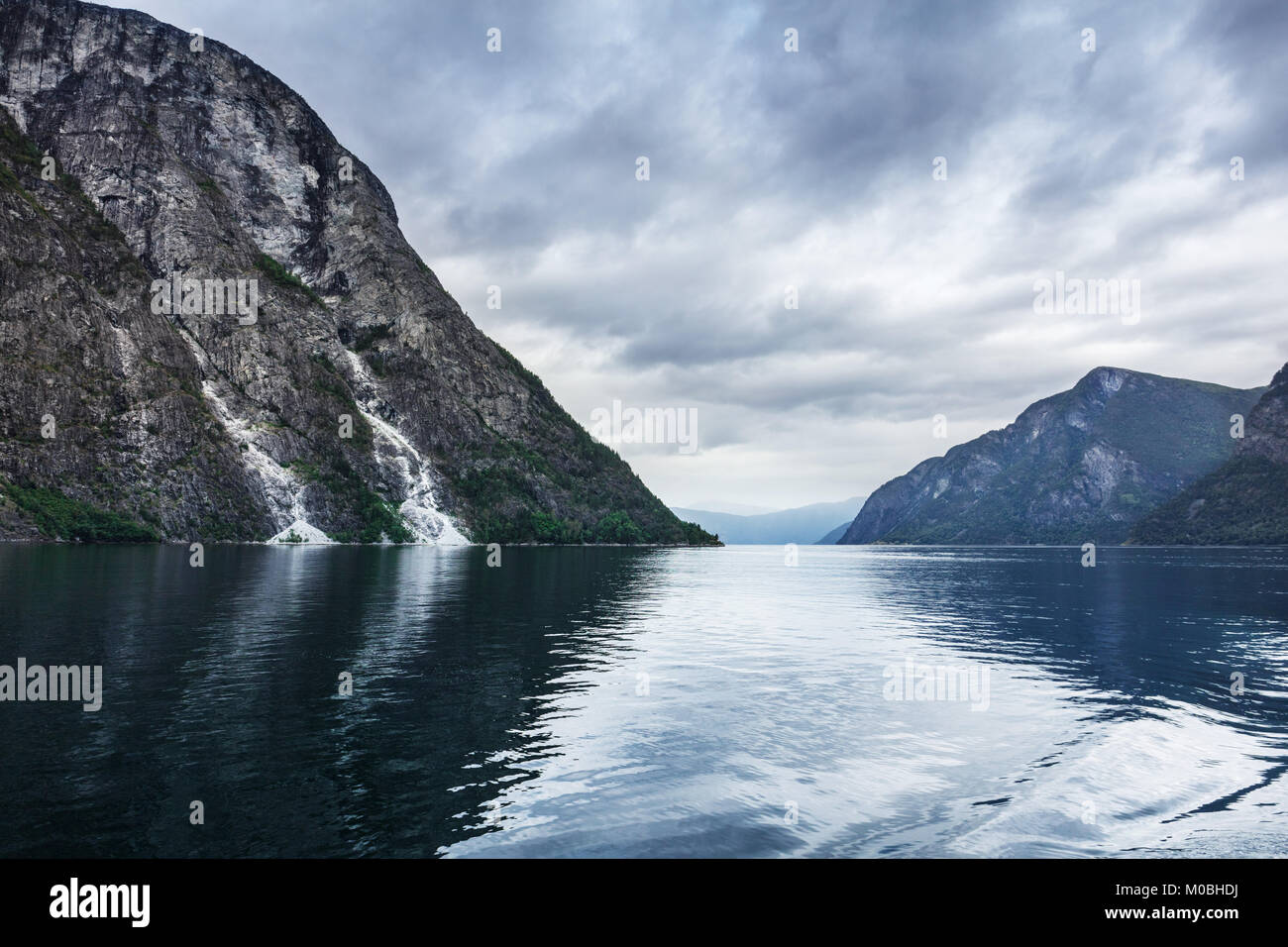 view of the Sognefjord, Norway - Stock Image