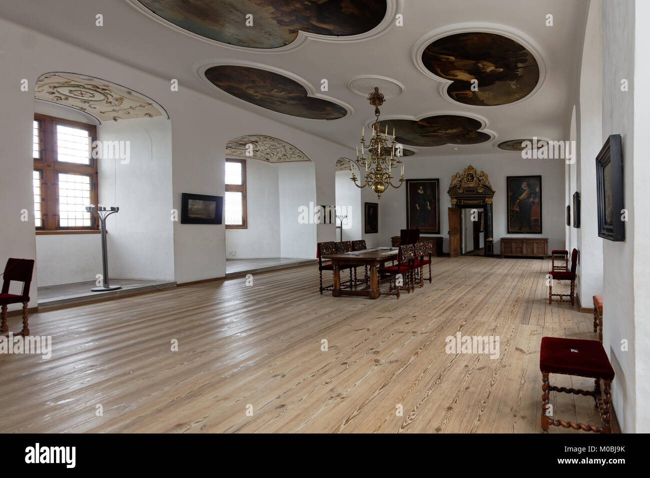 Helsingor, Denmark - November 6, 2016: Interior of Kronborg Castle. Kronborg is one of the most important Renaissance - Stock Image