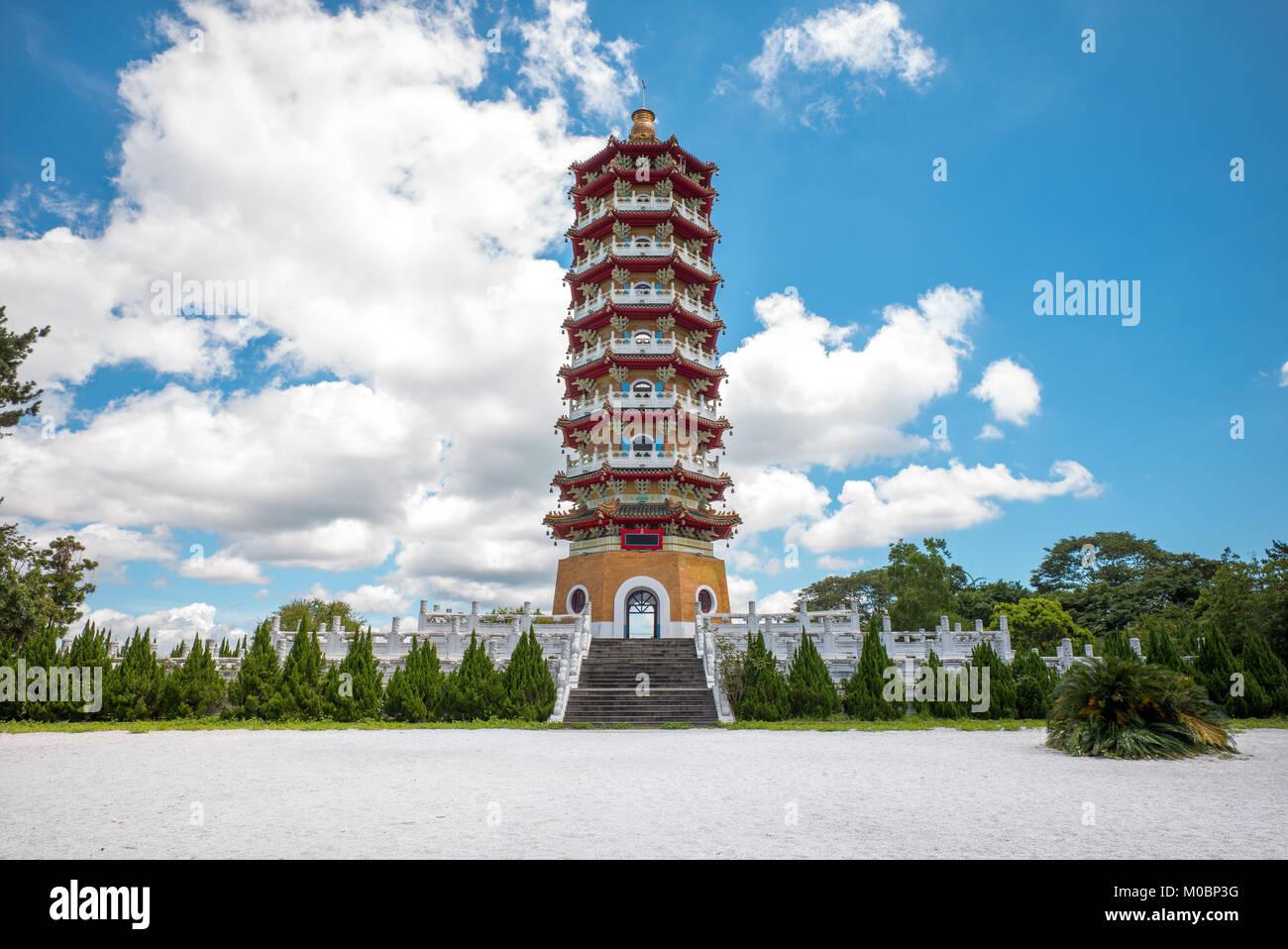Ci En Pagoda near Sun-Moon Lake - Stock Image