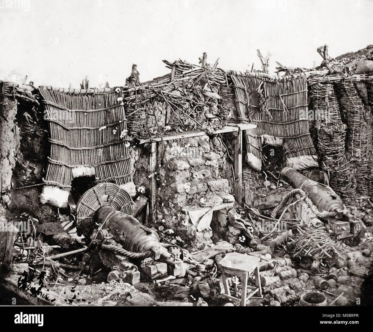 James Robertson, (1813 — 1888) Crimean War, inside the Barrack Battery, September 1855 - Stock Image