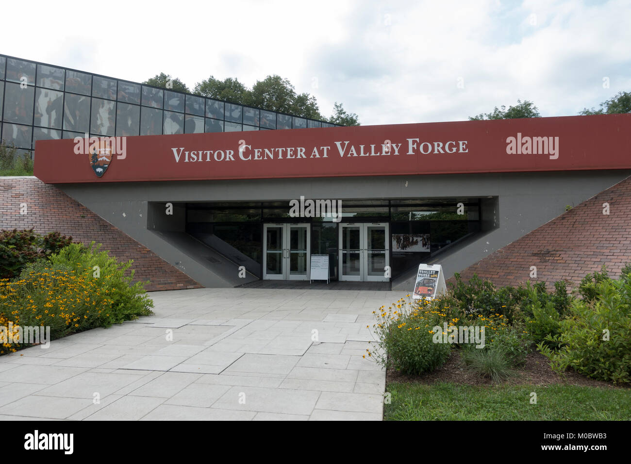 The Visitor Center at Valley Forge National Historical Park, Pennsylvania, United States. - Stock Image