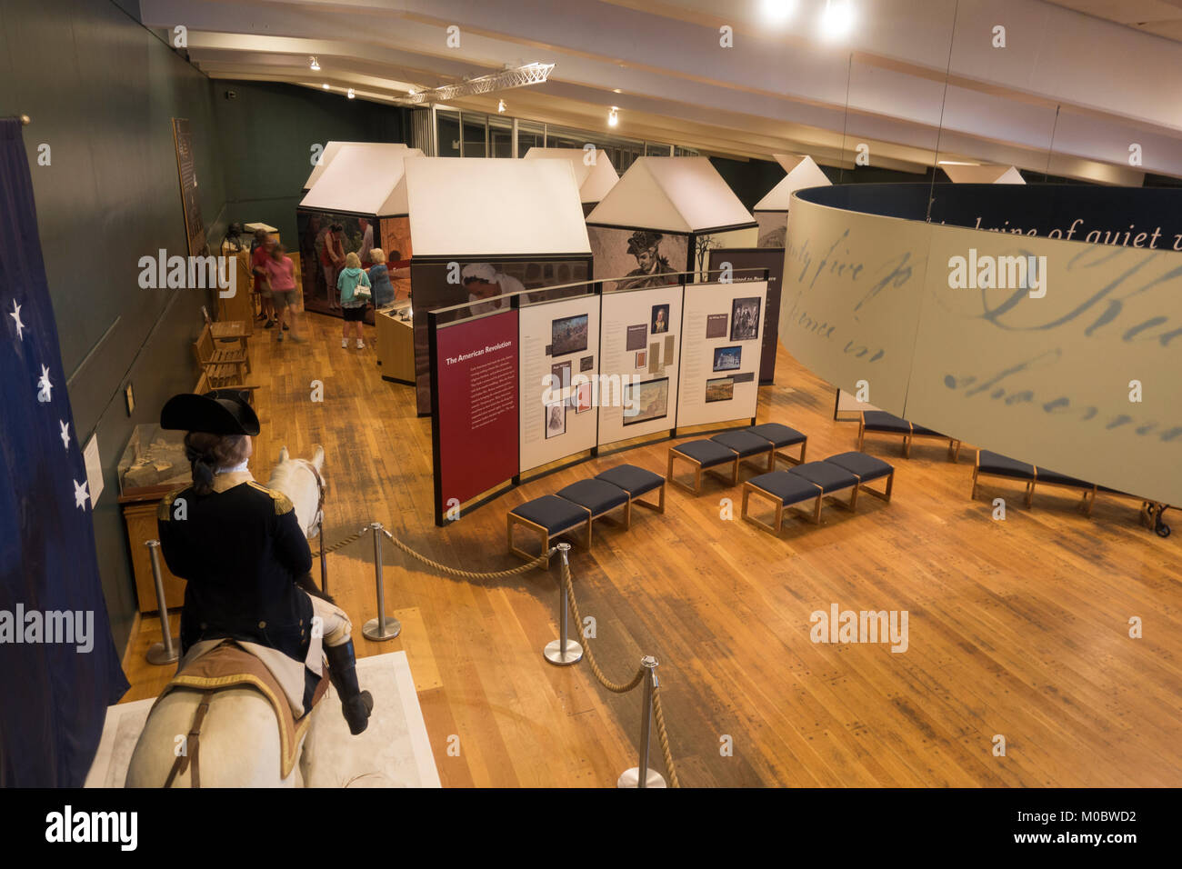 General view inside the Visitor Center at Valley Forge National Historical Park, Pennsylvania, United States. - Stock Image