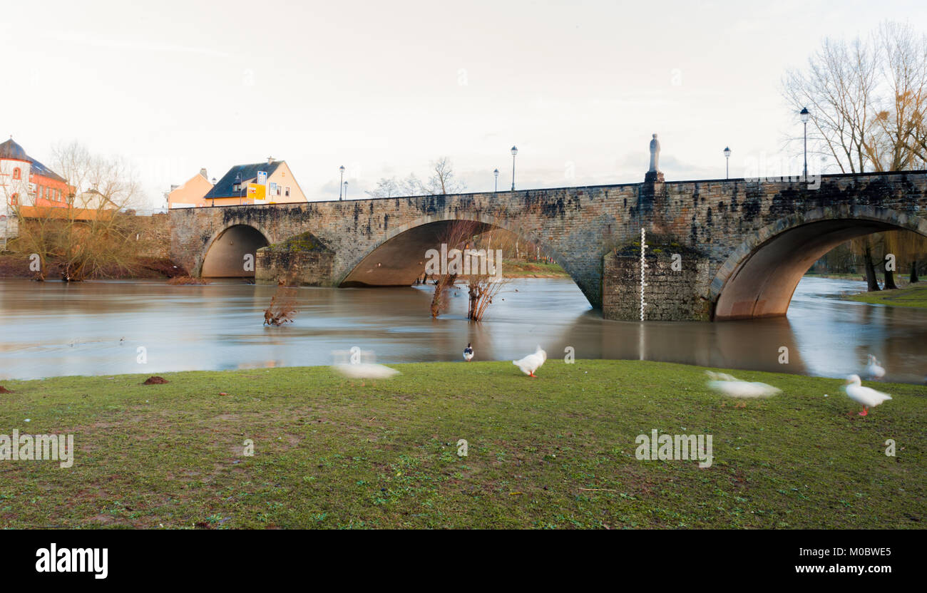 Sauer river, Echternach, Luxembourg - Stock Image