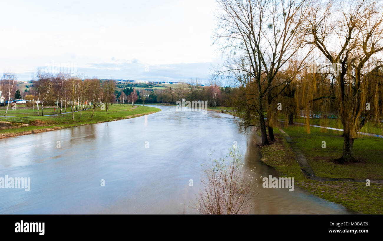 Sauer river, Echternach, Luxembourg Stock Photo
