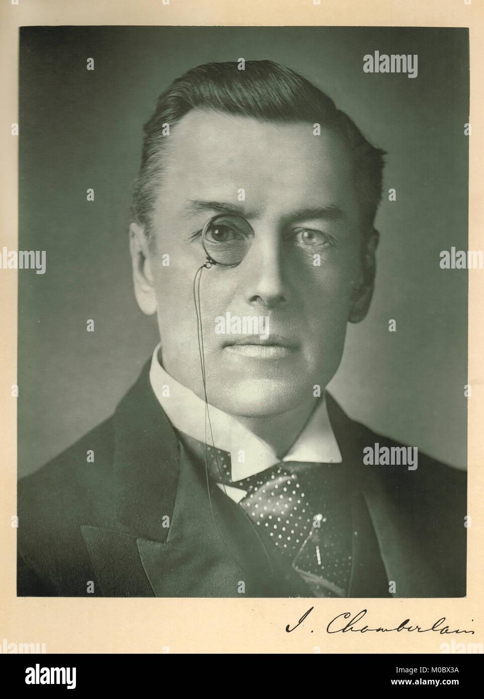 Joseph Chamberlain (1836-1914) Stock Photo