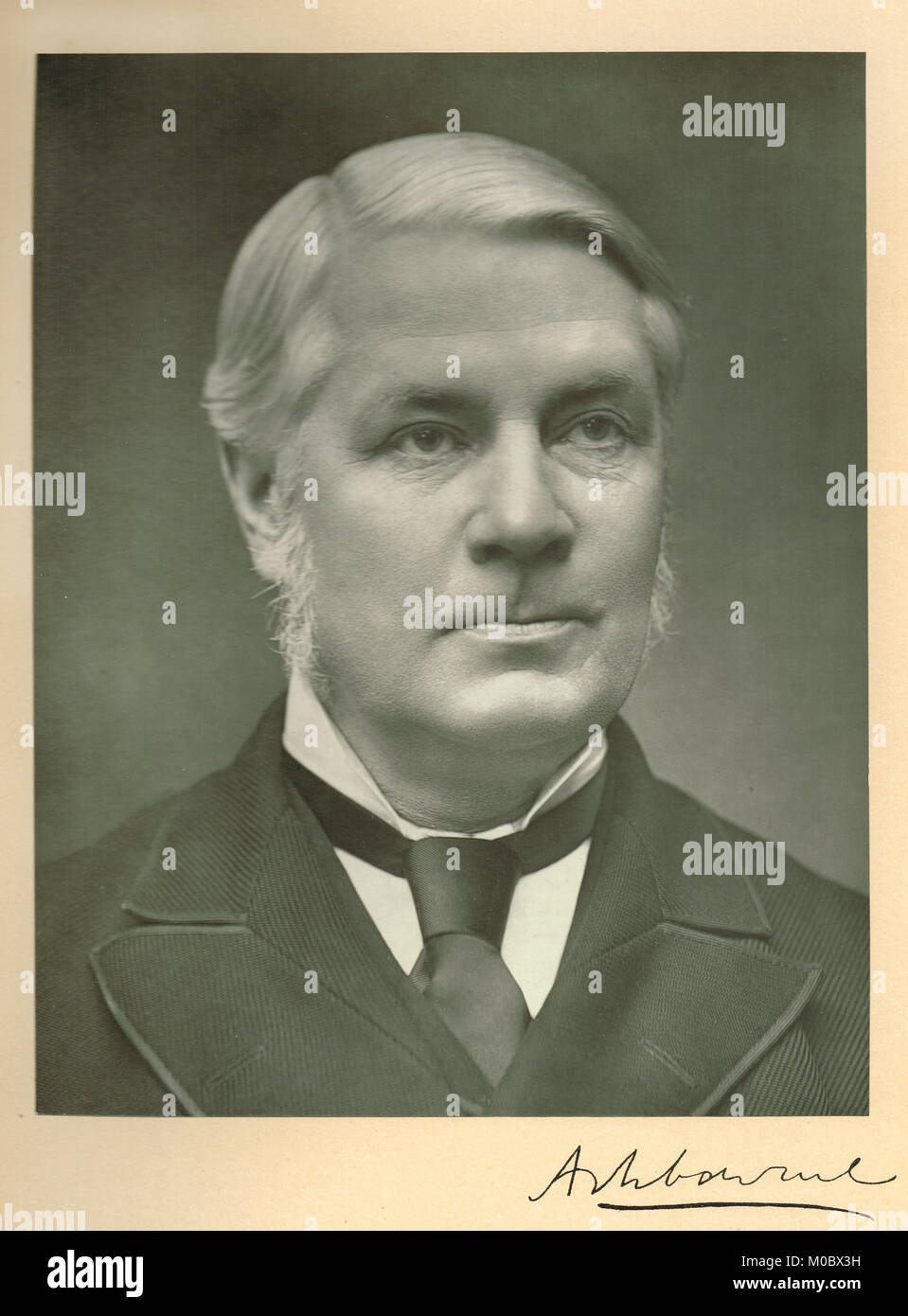 Edward Gibson, 1st Baron Ashbourne, 1837-1913, Member of Parliament for Dublin University & Lord Chancellor - Stock Image