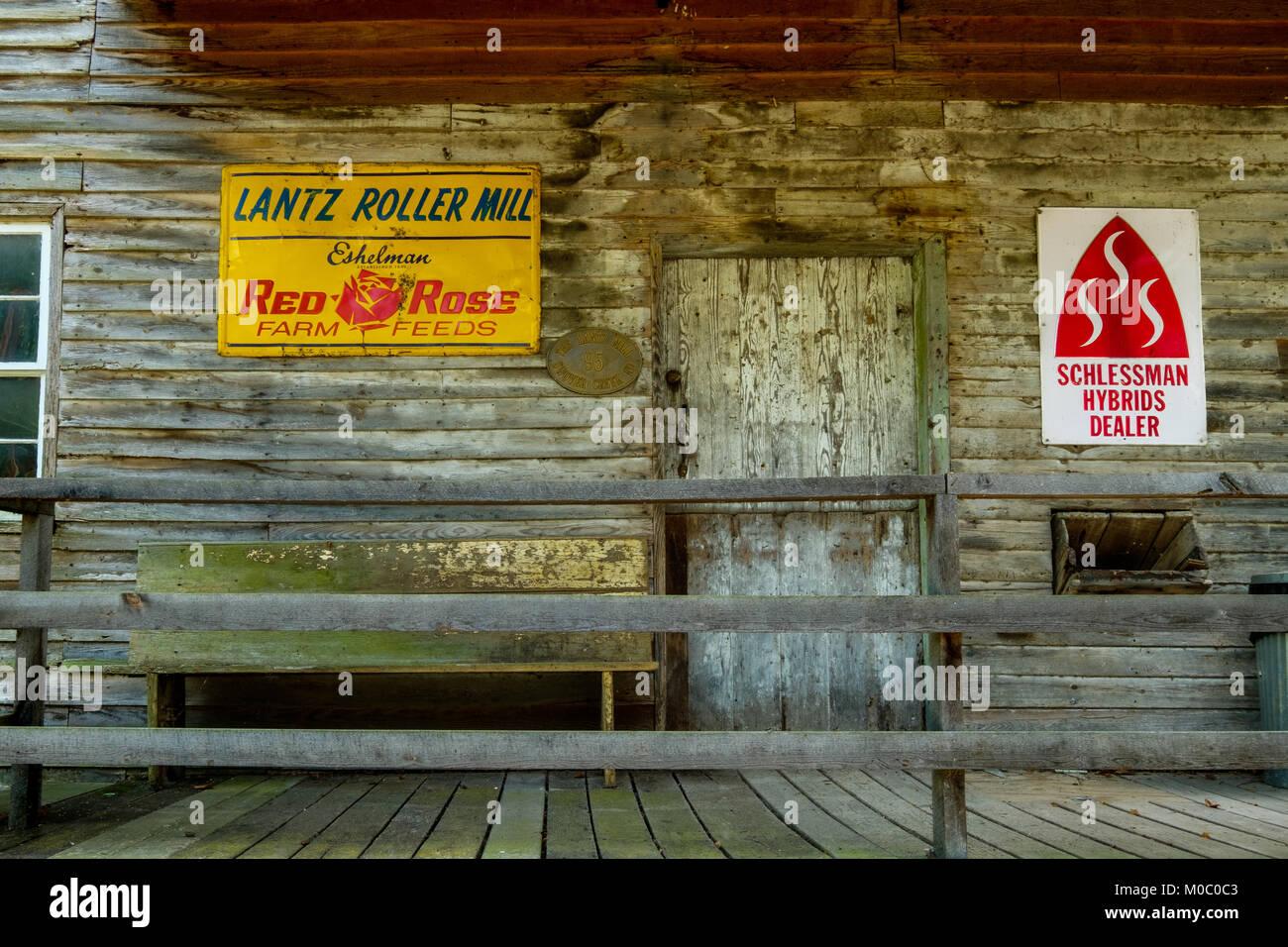 Lantz Mill, 95 Swover Creek Road, Edinburg, Virginia - Stock Image