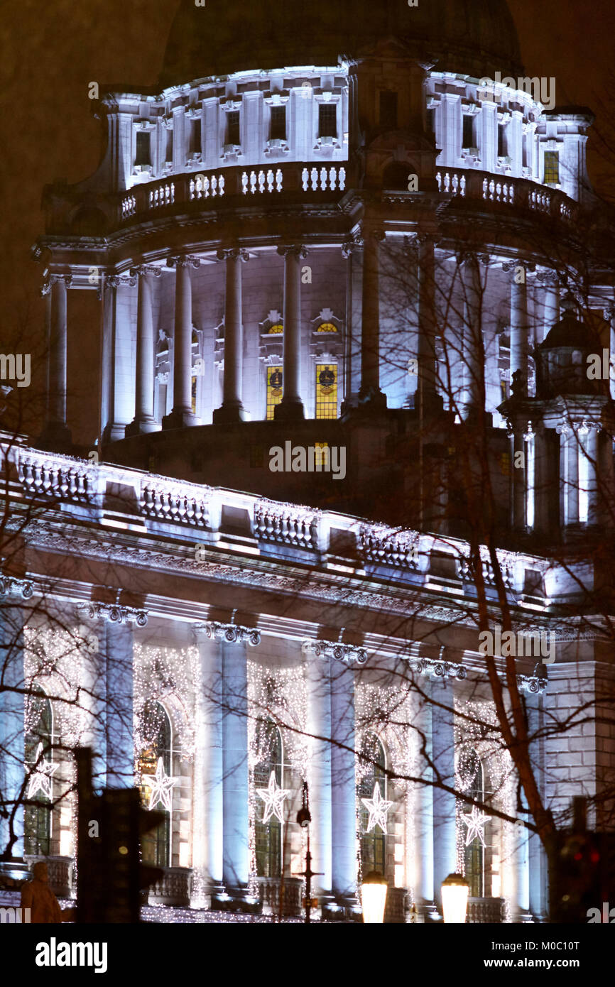 belfast city hall and dome with new low voltage led christmas lighting northern ireland uk