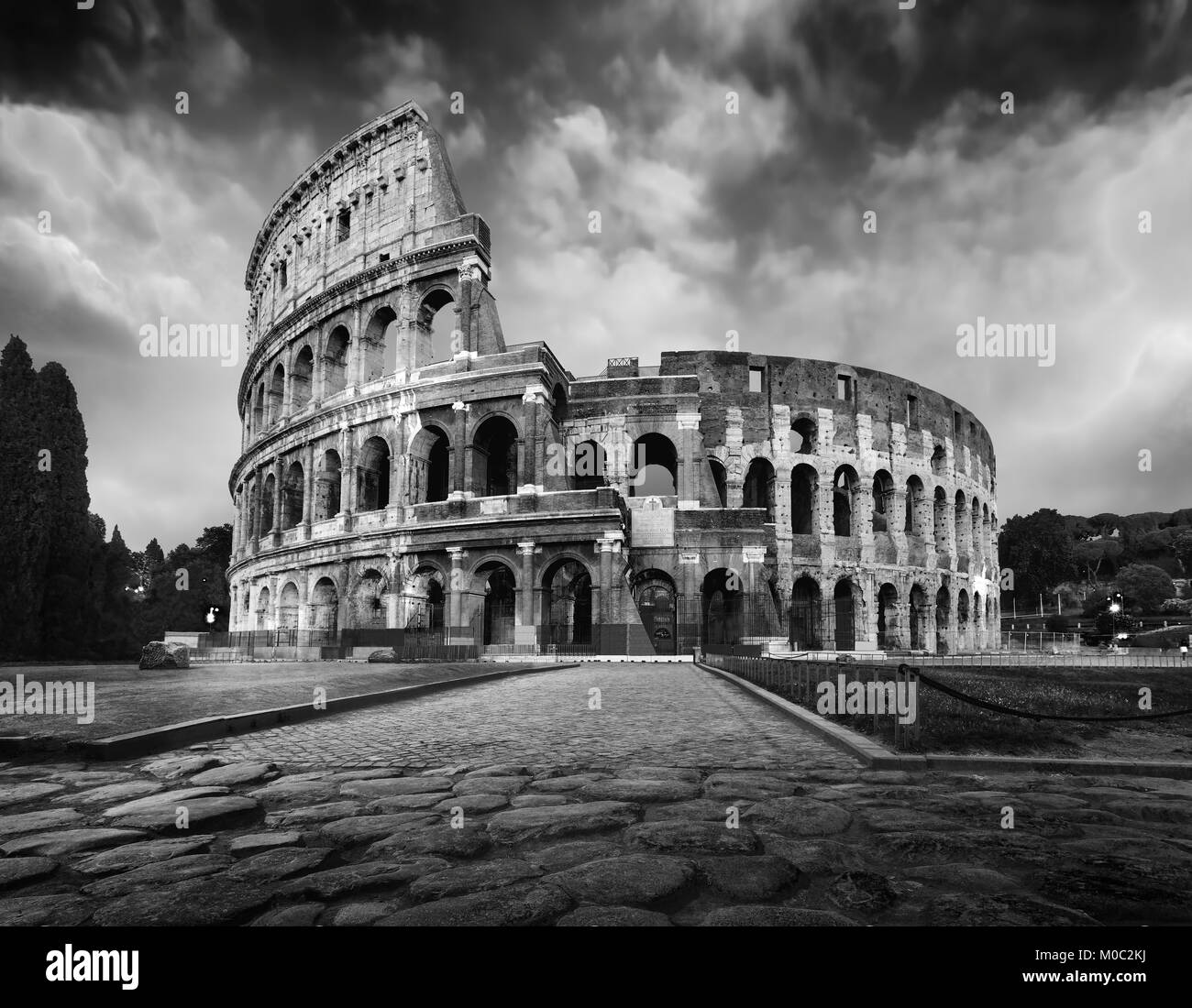Coliseum Black And White