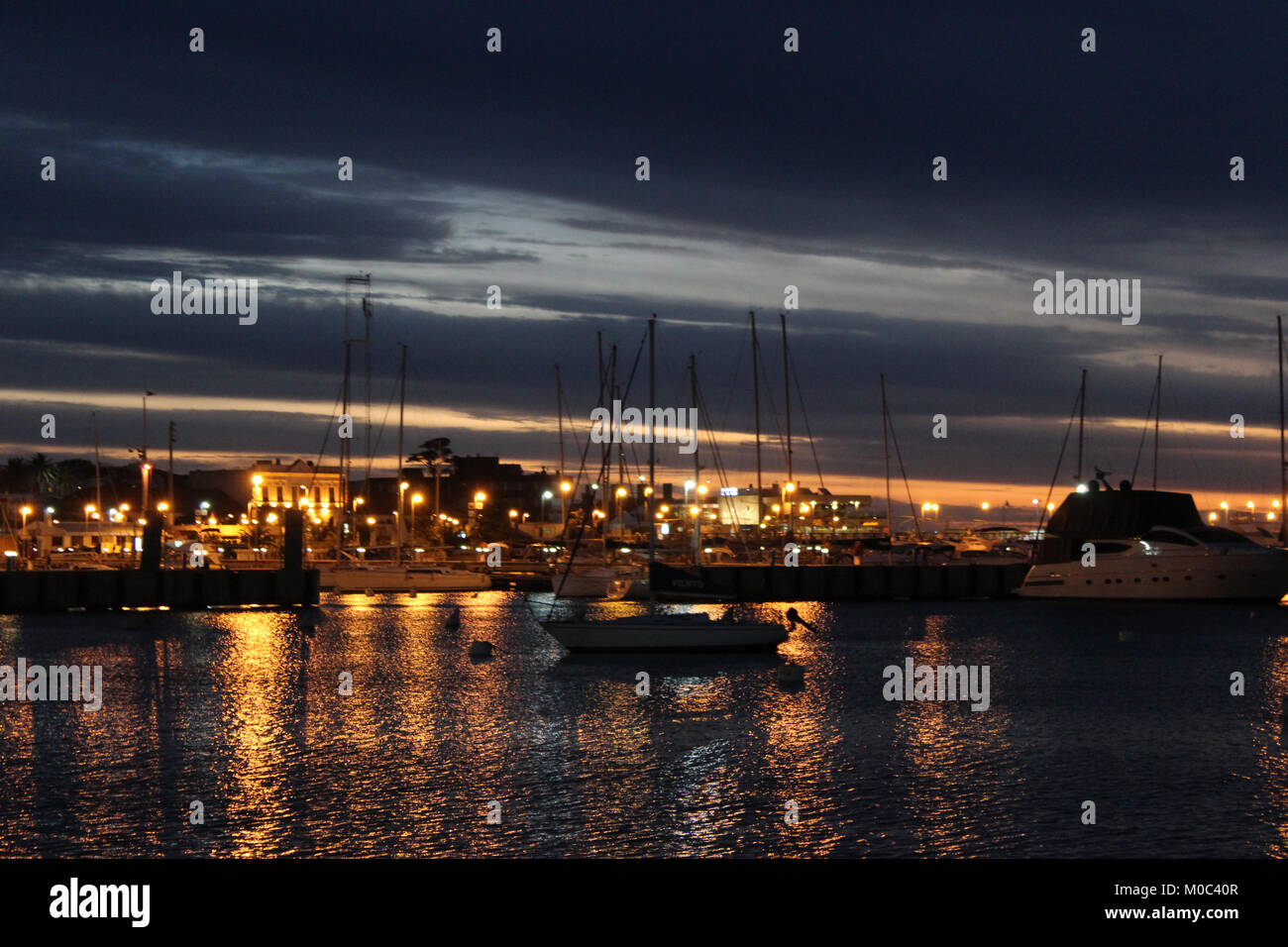 Lovely sunset at Punta del Este, Uruguay. Stock Photo