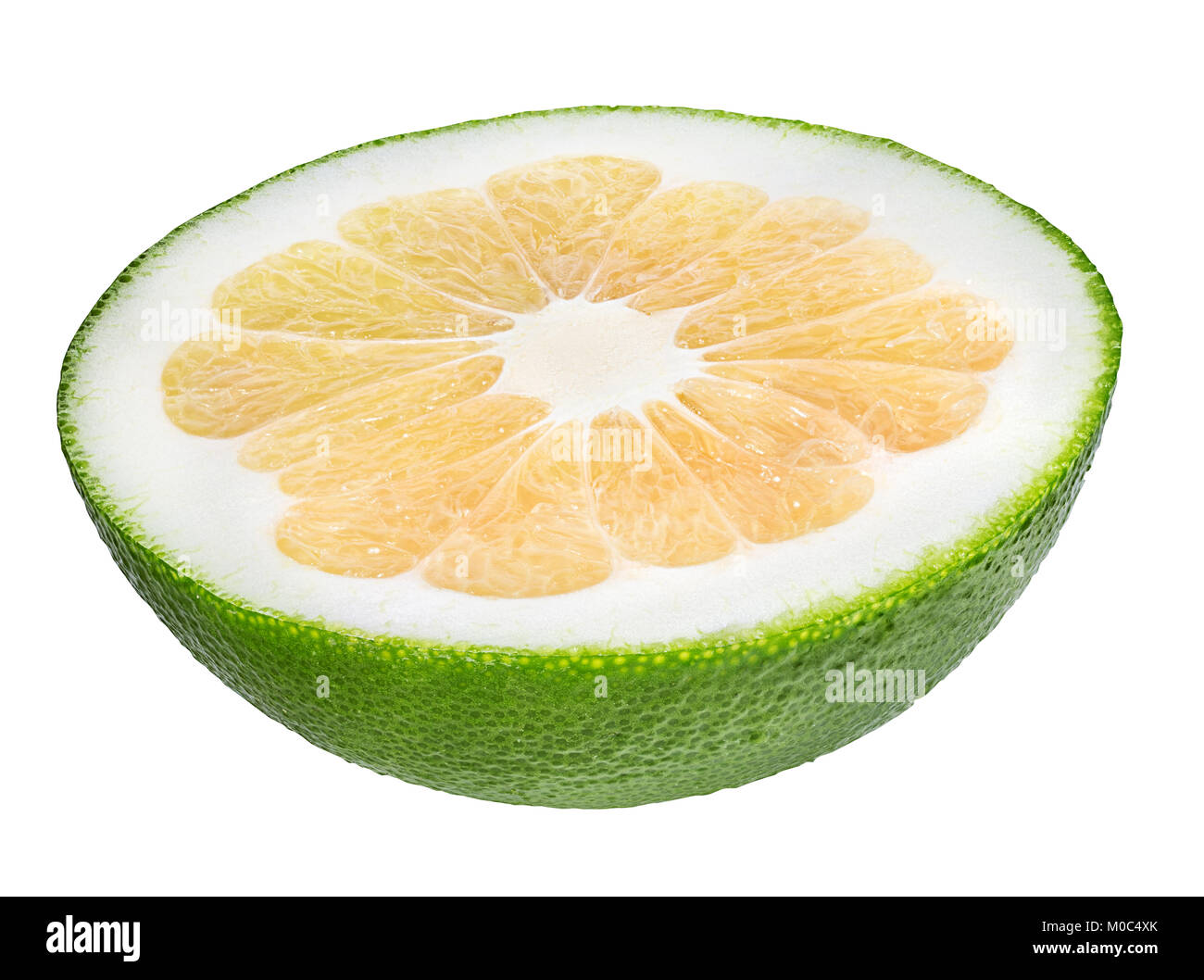 Citrus Sweetie or Pomelit, oroblanco isolated on white background - Stock Image