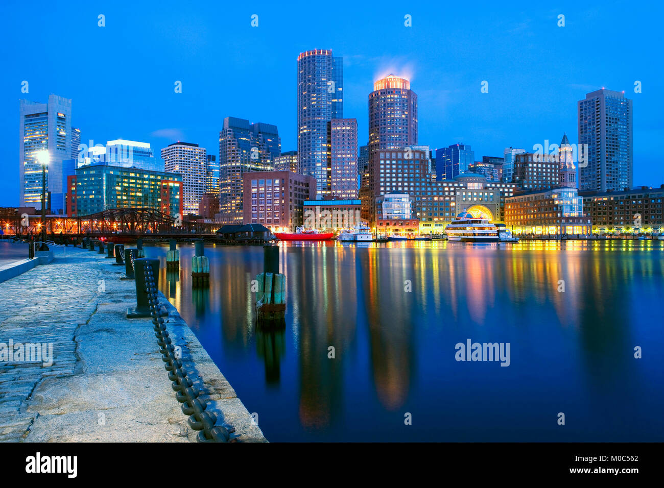Inner harbour, Boston, Massachusetts, USA - Stock Image