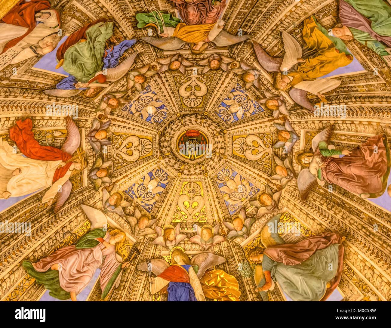 LORETO,Italy - juli 16, 2016: Interior of Basilica of Santa Casa, the Shrine of the Holy House of Virgin Mary. The - Stock Image