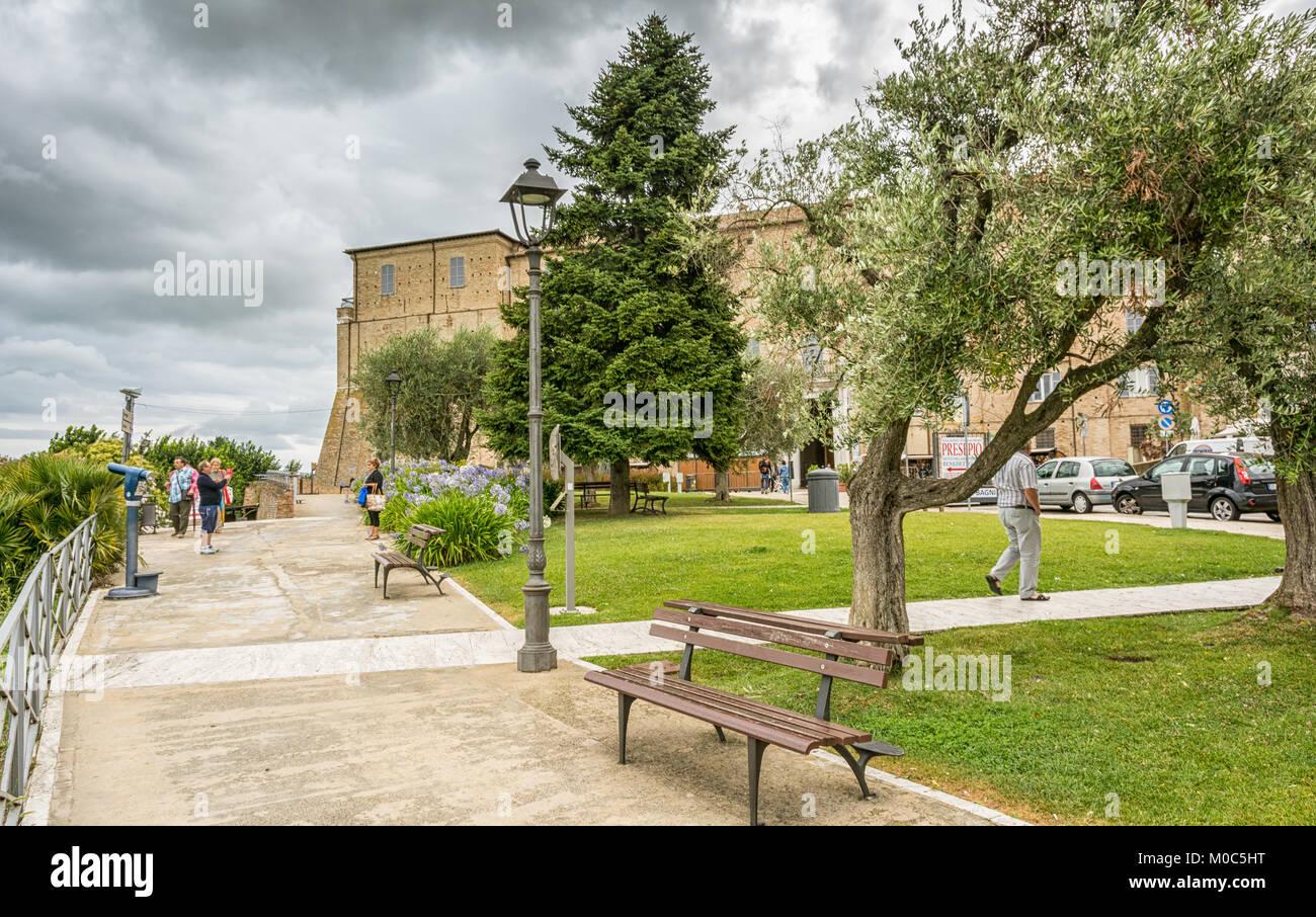LORETO,Italy - juli 16, 2016: Sanctuary of the Holy House of Loreto, Marches, Italy. View of the Apostolic Palace - Stock Image