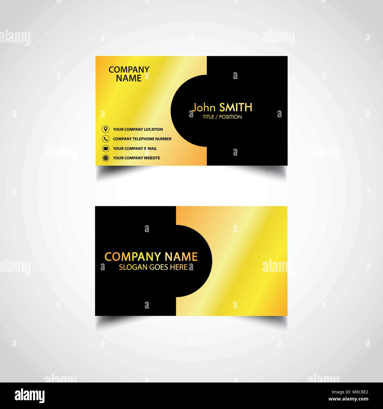 Golden Business Card Template, Vector, Illustration, Eps File Stock ...