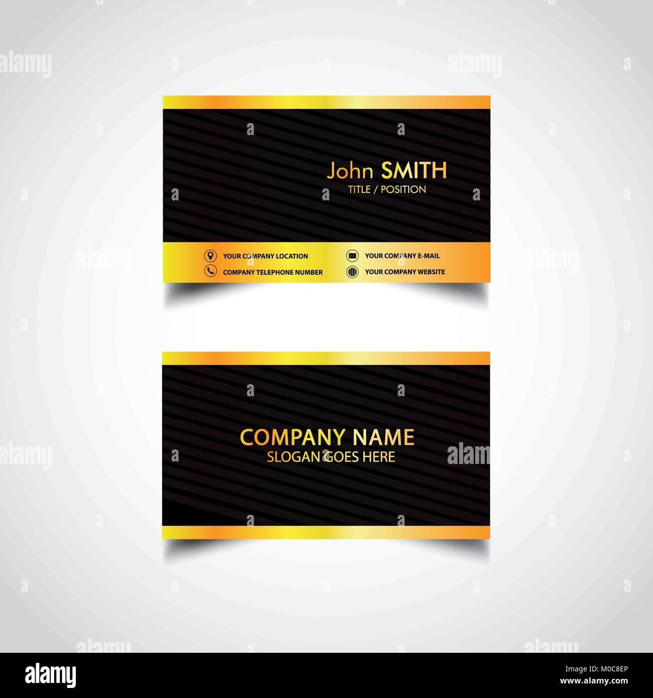 Golden business card template vector illustration eps file stock golden business card template vector illustration eps file colourmoves
