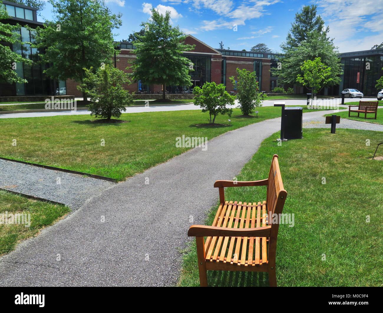 Delaware Art Museum, Wilmington, Delaware, art, sculpture, park. sculpture garden, illustrative art, - Stock Image