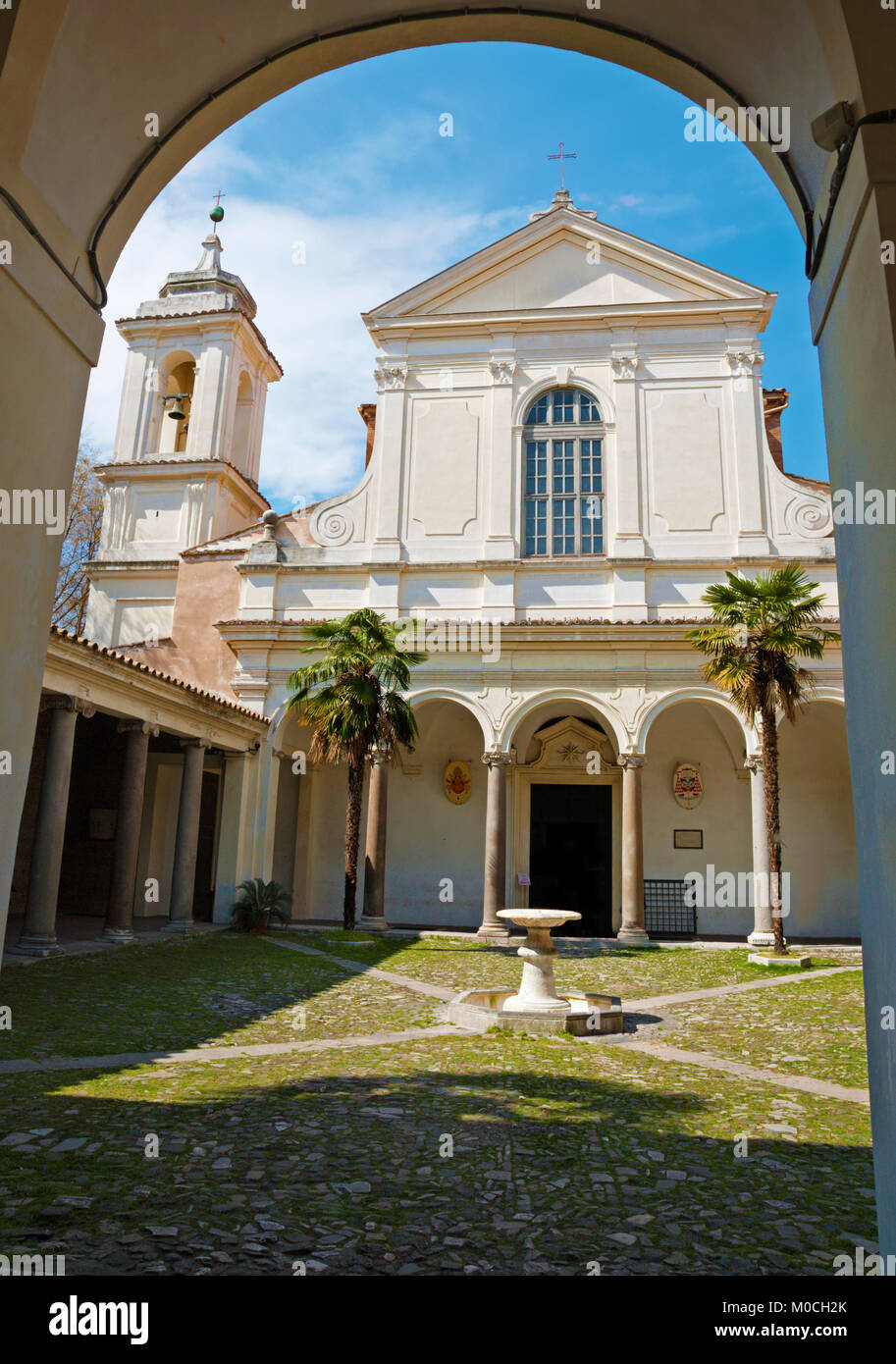 ROME, ITALY - MARCH , 2012: The chiesa di San Clemente with the atrium. Stock Photo