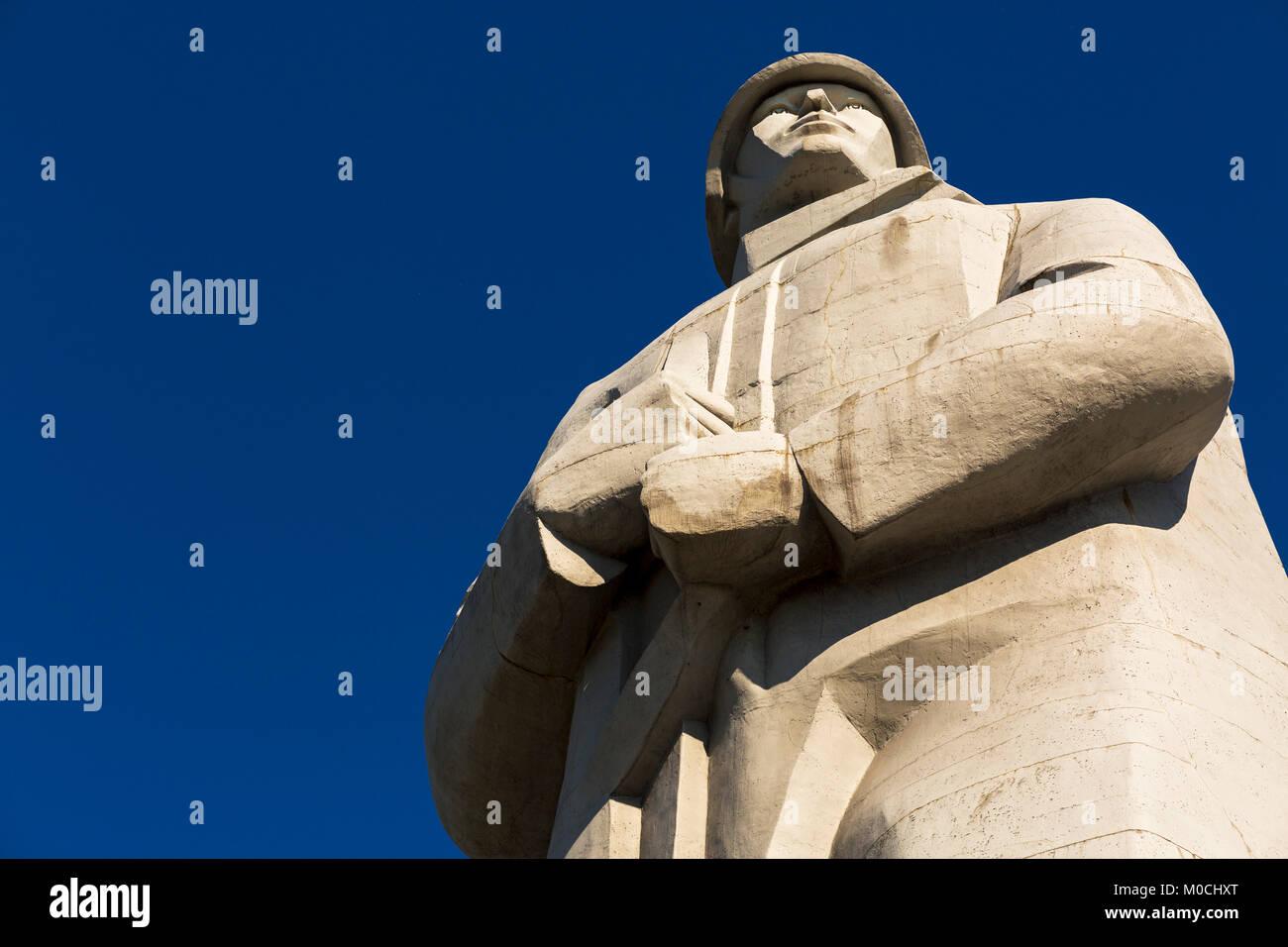 The Alyosha Memorial in Murmansk, Russia. - Stock Image