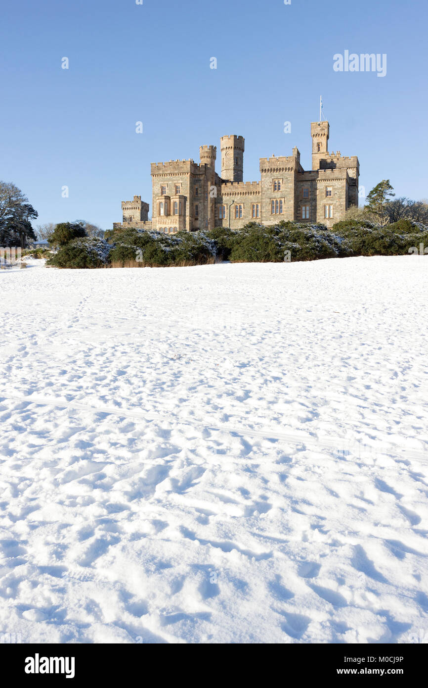 Winter Scene at Lews Castle, Stornoway, Isle of Lewis, Western Isles, Outer Hebrides, Scotland, United Kingdom - Stock Image