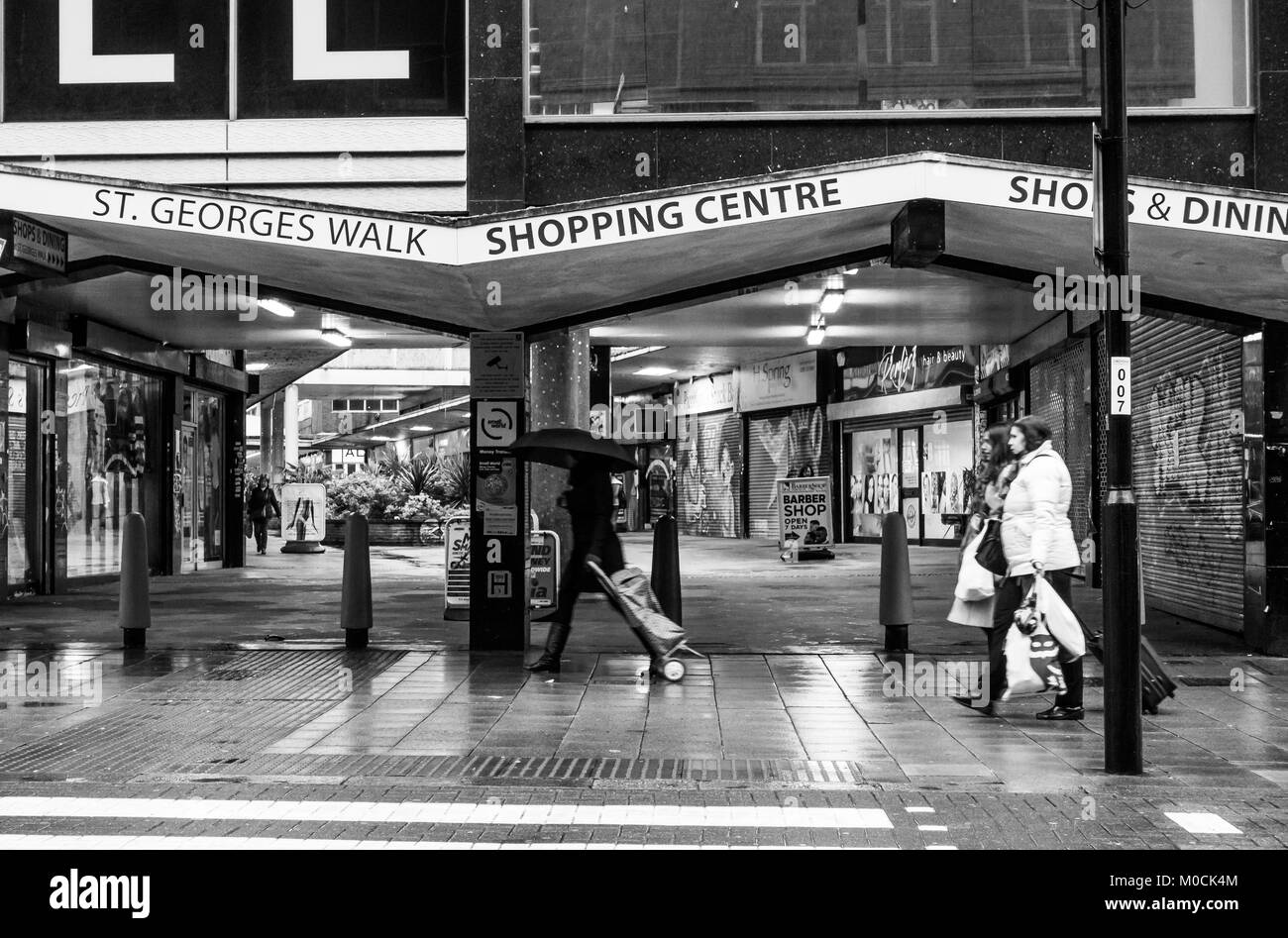 St Georges Walk Shopping Centre in Croydon, South London - Stock Image