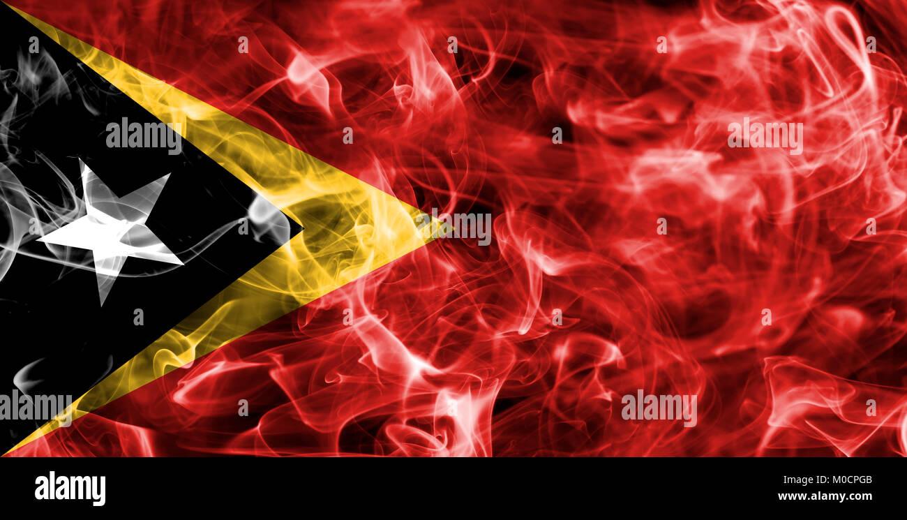 East Timor smoke flag - Stock Image