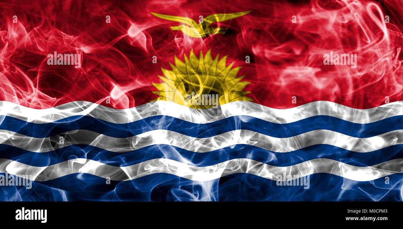 Kiribati smoke flag - Stock Image