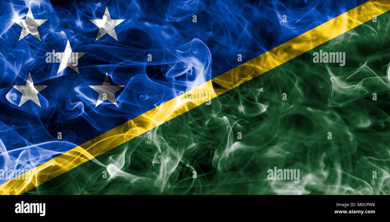 Solomon Islands smoke flag - Stock Image