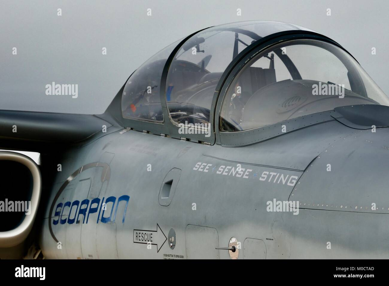 Textron AirLand Scorpion - A new generation of affordable fighter jets manufactured by Textron AirLand, LLC - Stock Image