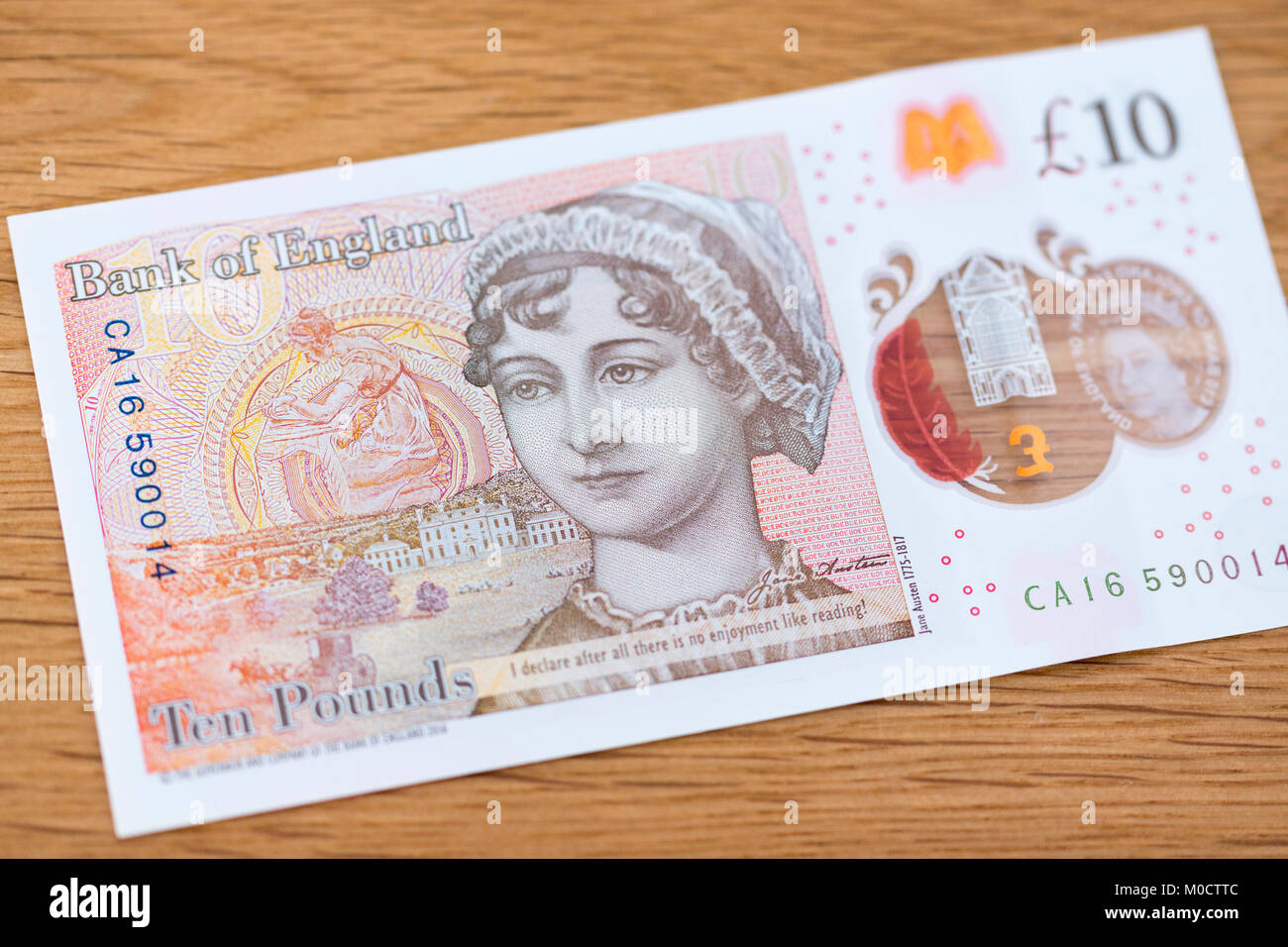 A new ten pound polymer note - Stock Image