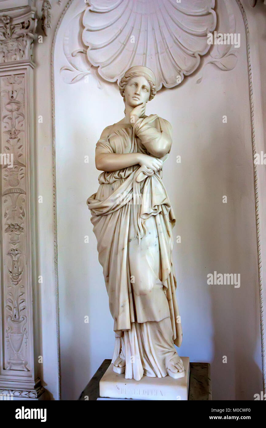 IVADIA, RUSSIA - MARCH 21, 2011: Statue of Penelope in Livadia Palace. - Stock Image