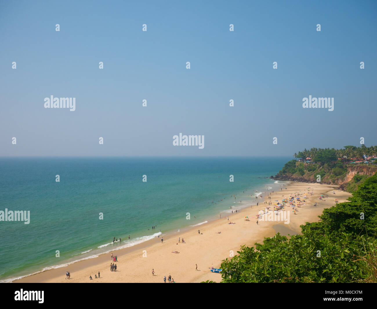 Varkala beach, Kerala, South India Stock Photo