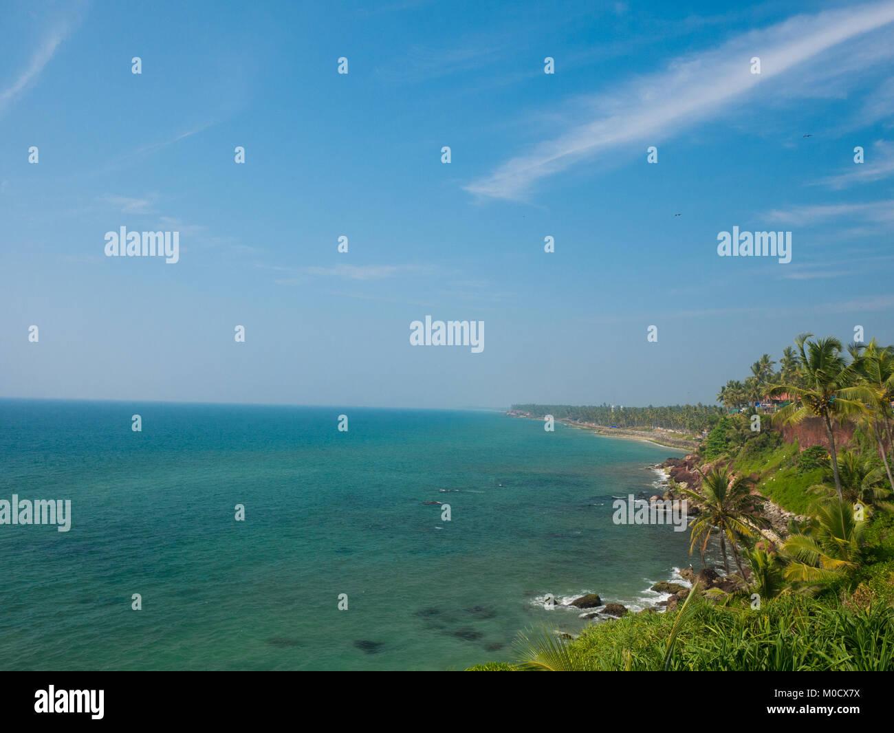 Varkala beach, Kerala, South India Stock Photo