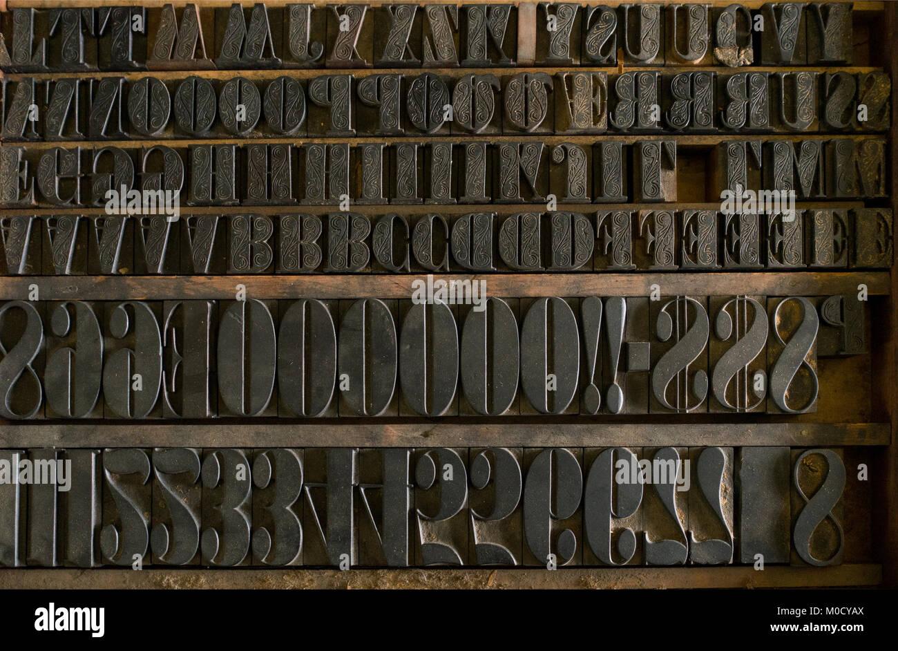 Printing Press Machine 19th Century Stock Photos
