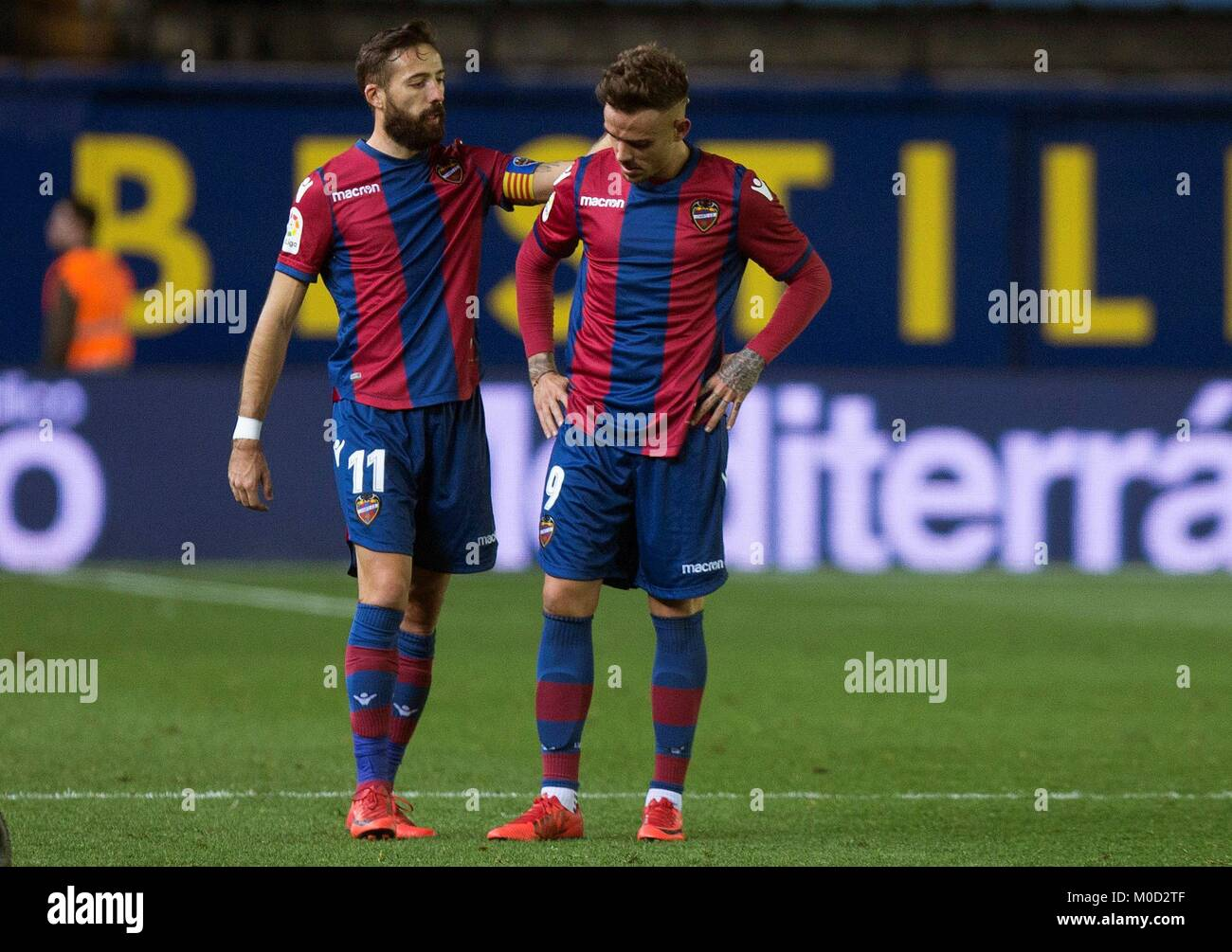 Levante's players Jose Luis Morales (L) and Roger Marti (R) during Stock  Photo - Alamy