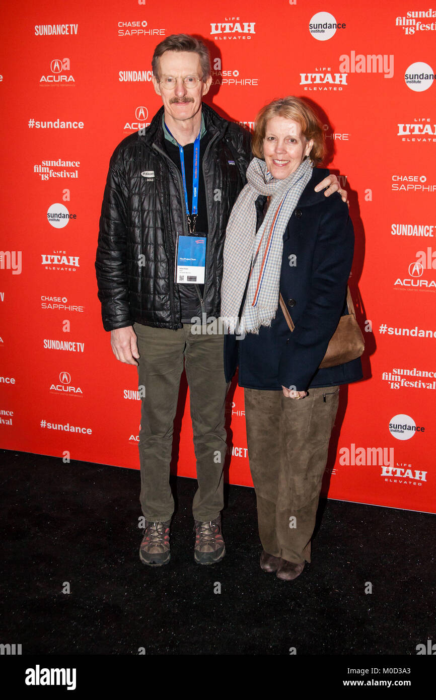 Writer Robert Rodat and Mollie Miller attend the 'The Catcher Was A Spy' Premiere during the 2018 Sundance - Stock Image