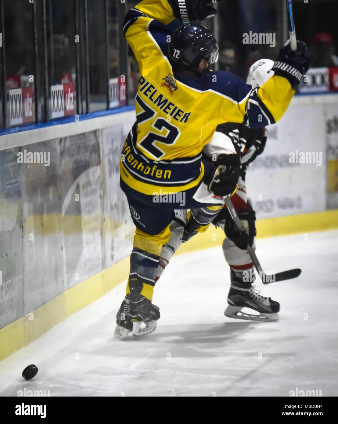 Deutschland, Haufurt, Stadion am Gro§en Anger, 19.01.2018, Eishockey - Bayernliga - Playoffs 17/18 - ESC Haufurt - Stock Image