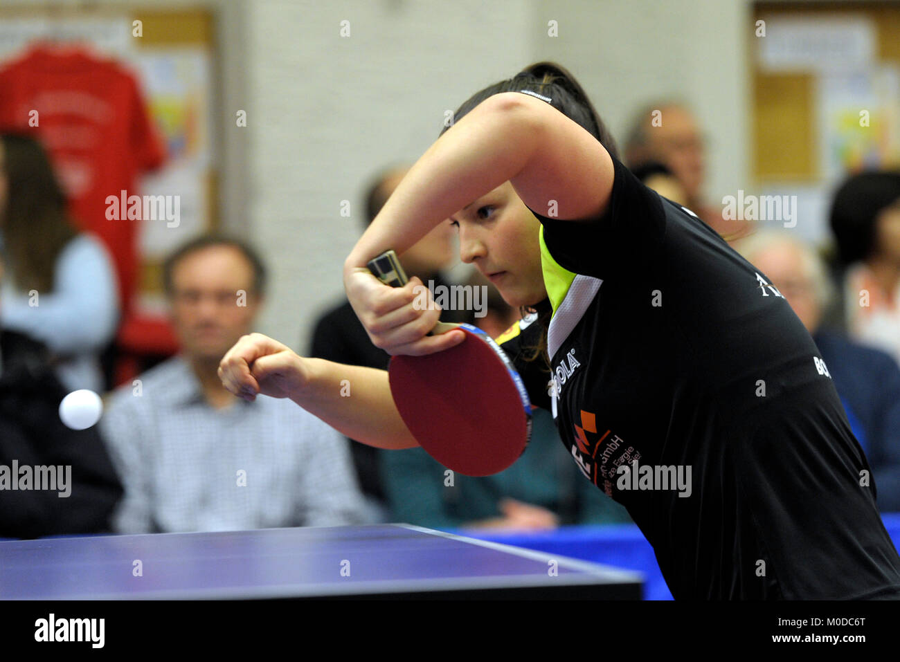 Deutschland. 20th Jan, 2018. Anastasia Bondareva, (TV Busenbach) GES/ Tischtennis/ Bundesliga: TV Busenbach - TTK Stock Photo