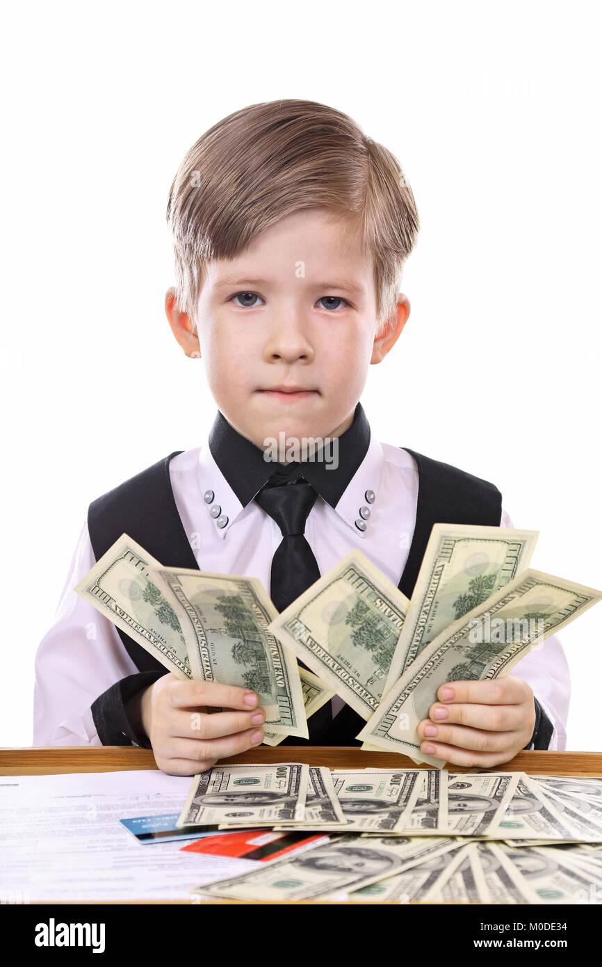 Child's game - banker, financier Stock Photo