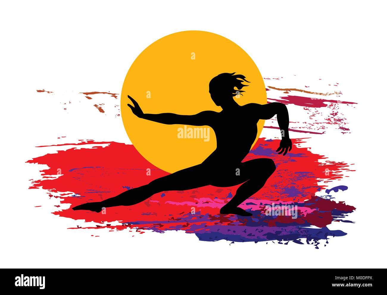 Martial Arts Background Stock Vector Image Art Alamy