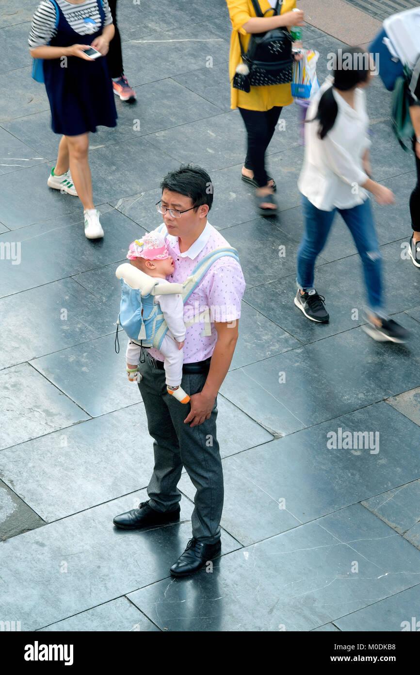 Zhengyang Pedestrian Street, Guilin, Guangxi Province, China - Stock Image