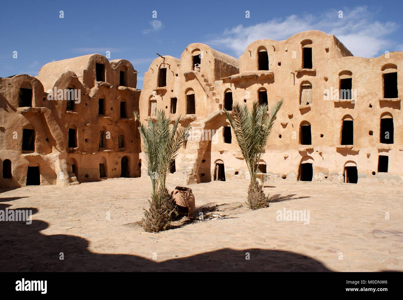Ksar Ouled Soltane, fortified granary, Tataouine district, Tunisia Stock Photo