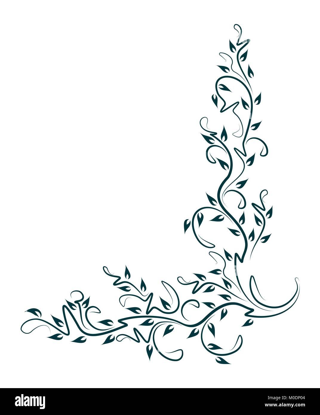 decorative floral corner vector illustration for your design or stock vector image art alamy https www alamy com stock photo decorative floral corner vector illustration for your design or tattoo 172406308 html