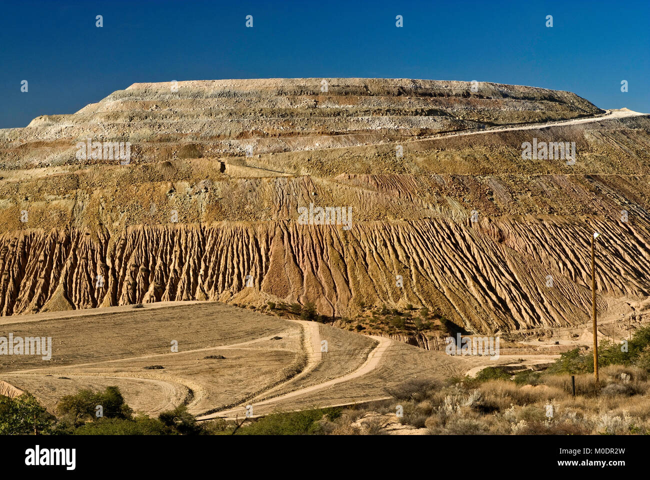 Stockpiles at Freeport-McMoRan Copper & Gold Inc. Tyrone Mine near Silver City, New Mexico, USA - Stock Image
