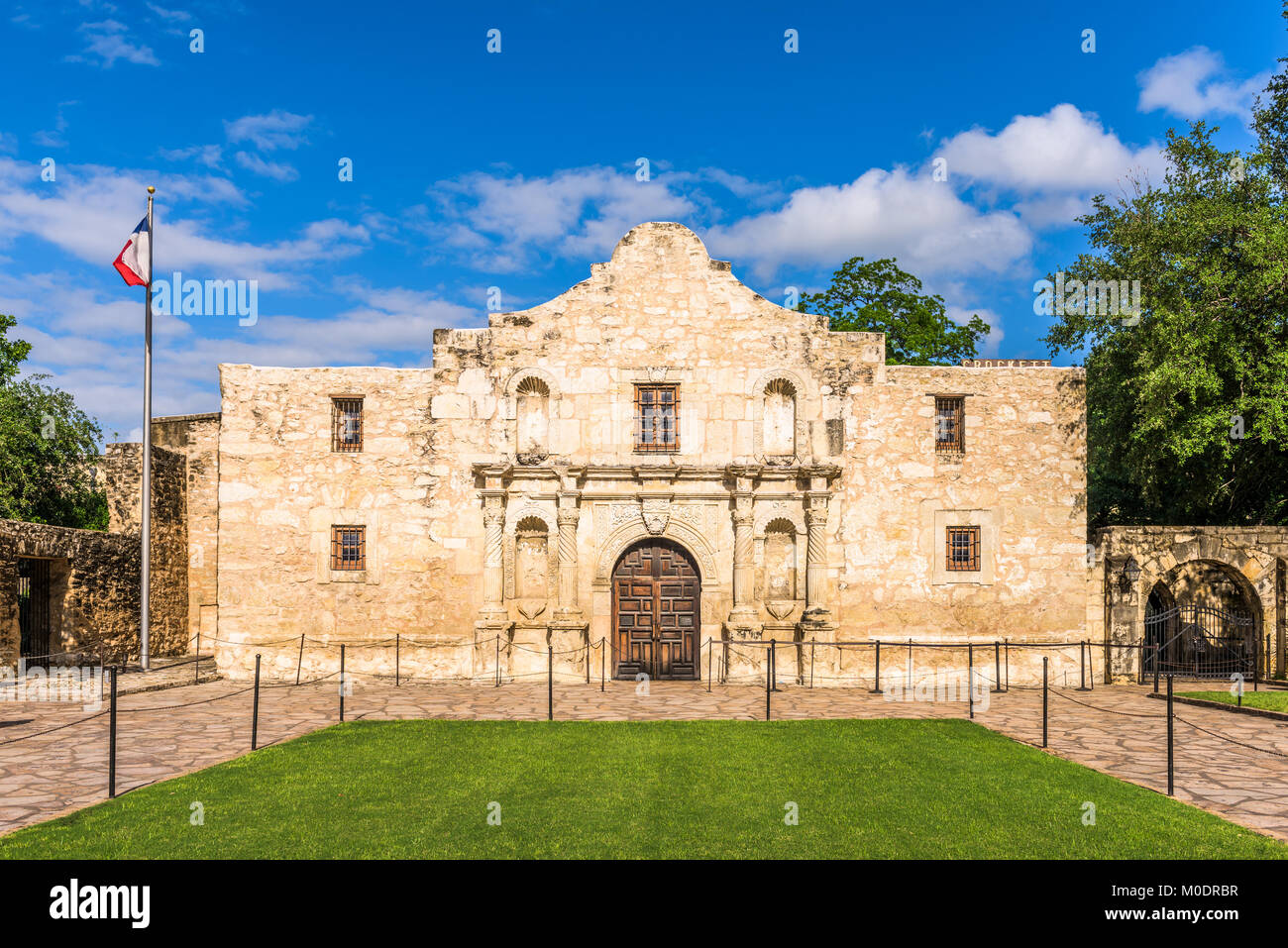 The Alamo in San Antonio, Texas, USA. - Stock Image