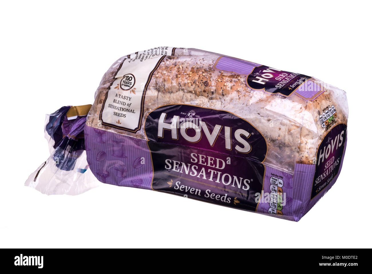 Hovis seed sensations sliced bread, wrapped in plastic. - Stock Image